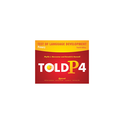 Test of Language Development-Primary, Fourth Edition (TOLD-P:4)